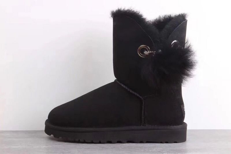 Ugg Boots Womens UGG Hairball Black