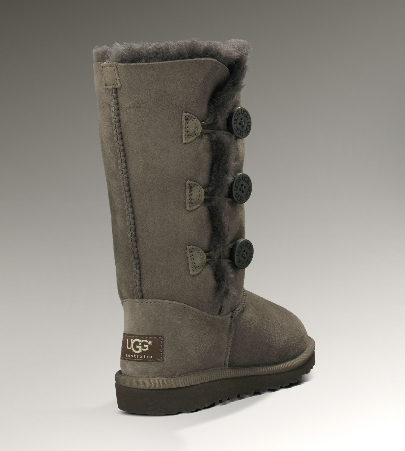 UGG Bailey Button Triplet 1962 Chocolate Boots