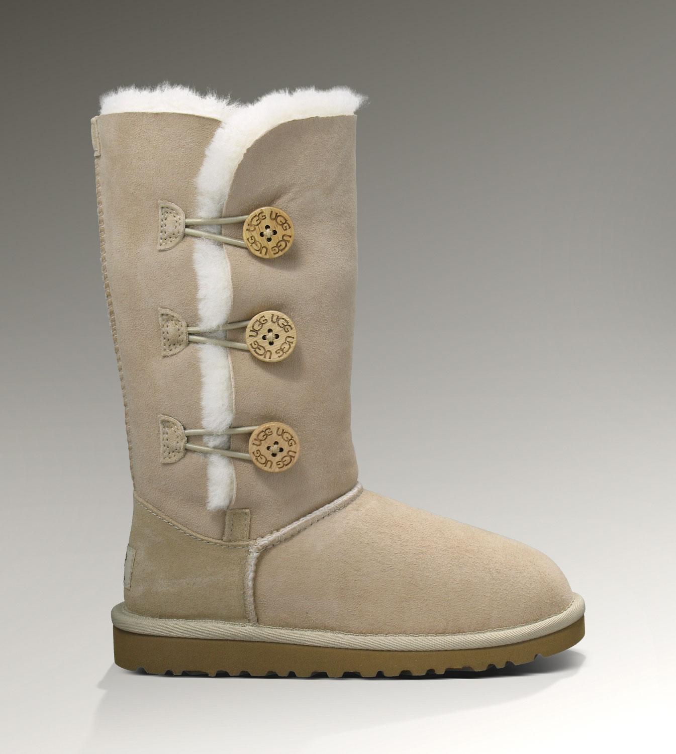 UGG Bailey Button Triplet 1962 Sand Boots