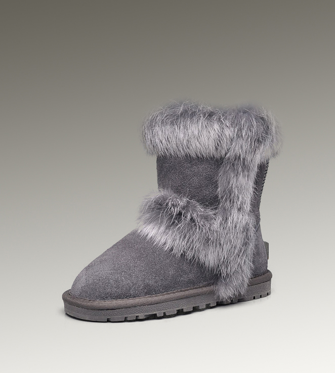 UGG Fox Fur Short 5281 Grey Boots