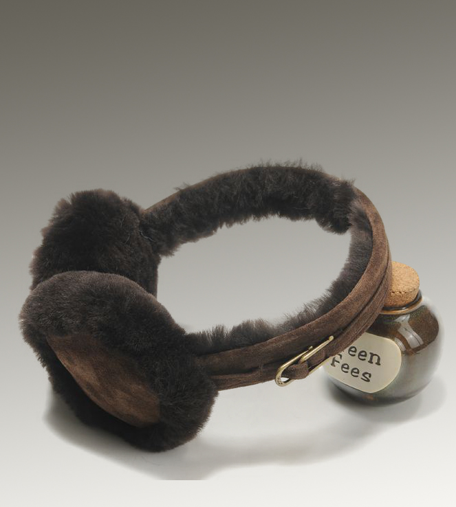 UGG Double U Logo 5801 Chocolate Earmuff