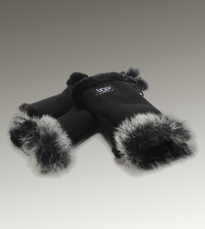 UGG Fingerless 6200 Black Glove