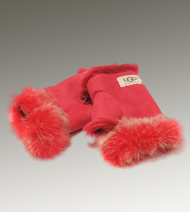 UGG Fingerless 6200 Red Glove