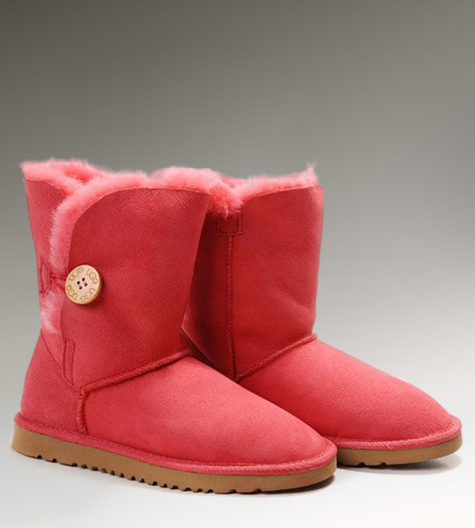 UGG Bailey Button 5803 Red Boots