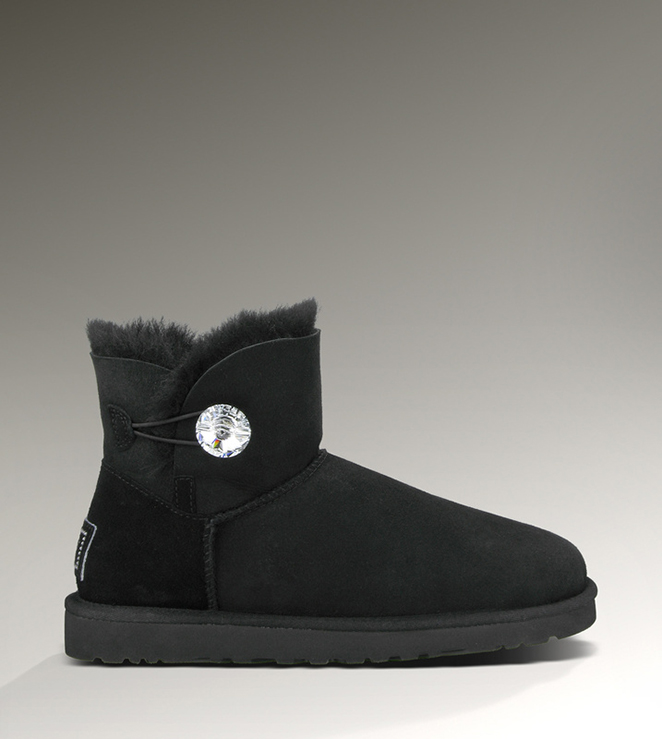 UGG Bailey Button Bling Mini 1003889 Black Boots