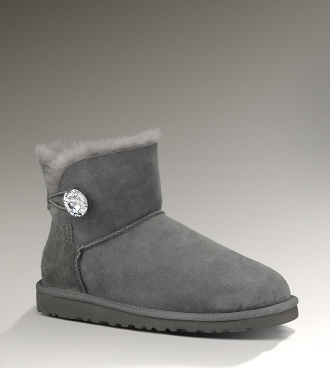 UGG Bailey Button Bling Mini 1003889 Grey Boots