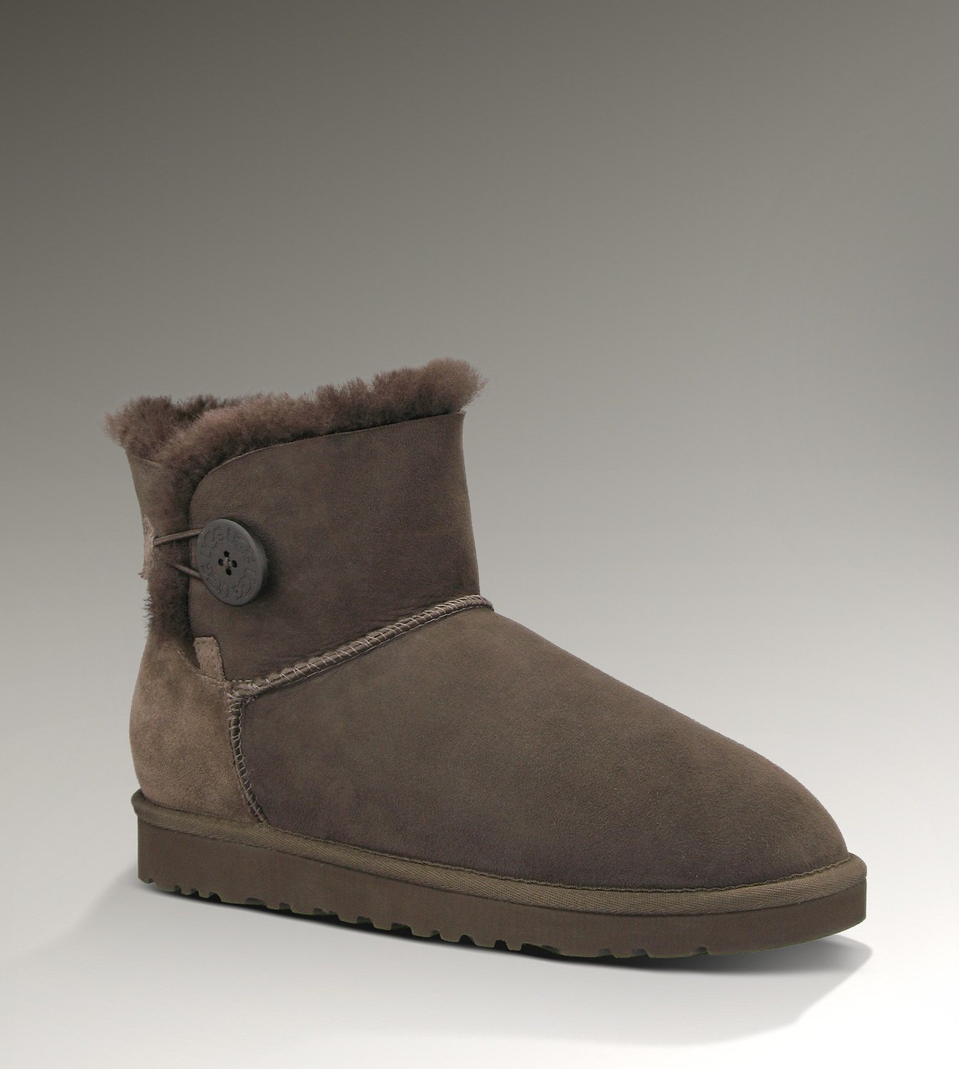 UGG Bailey Button Mini 3352 Chocolate Boots