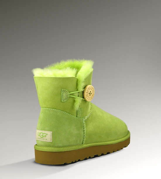 UGG Bailey Button Mini 3352 Green Boots