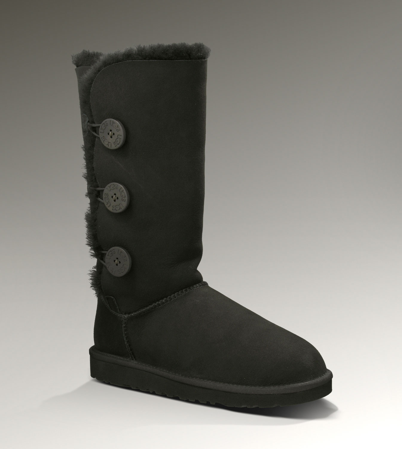 UGG Bailey Button Triplet 1873 Black Boots