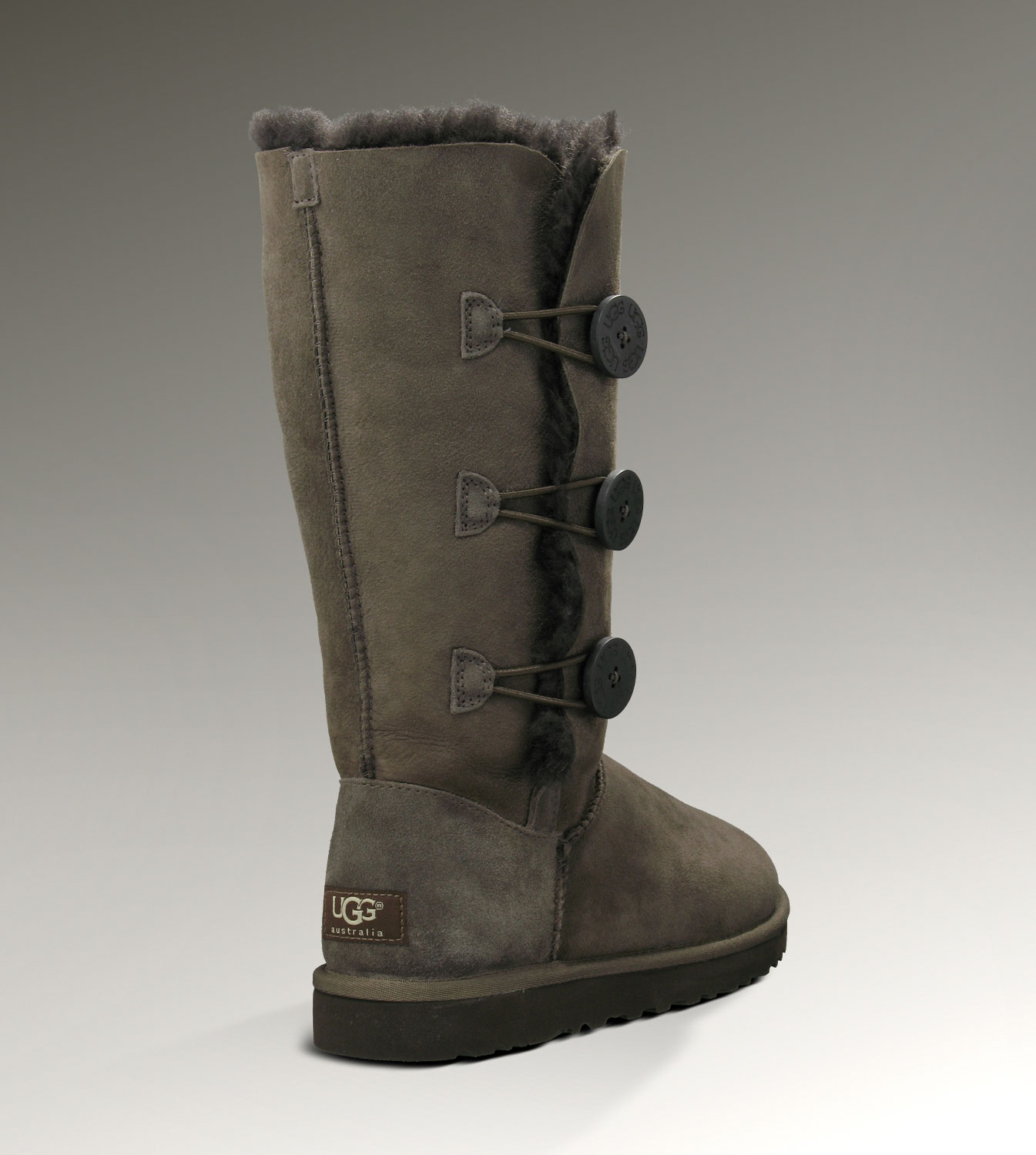 UGG Bailey Button Triplet 1873 Chocolate Boots