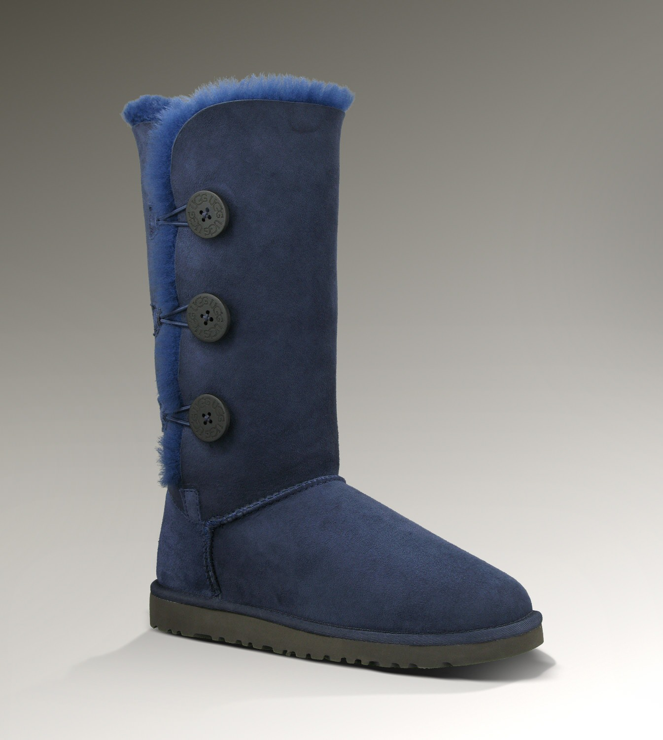 UGG Bailey Button Triplet 1873 Navy Boots