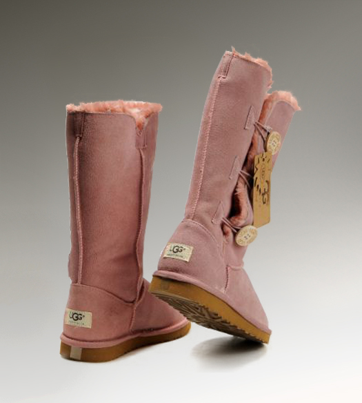 UGG Bailey Button Triplet 1873 Pink Boots