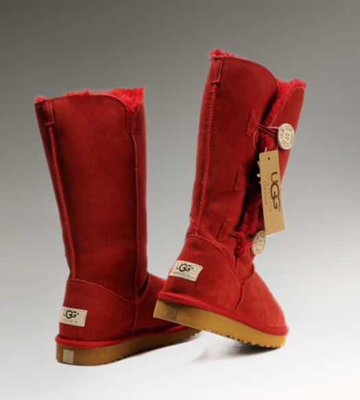 UGG Bailey Button Triplet 1873 Red Boots