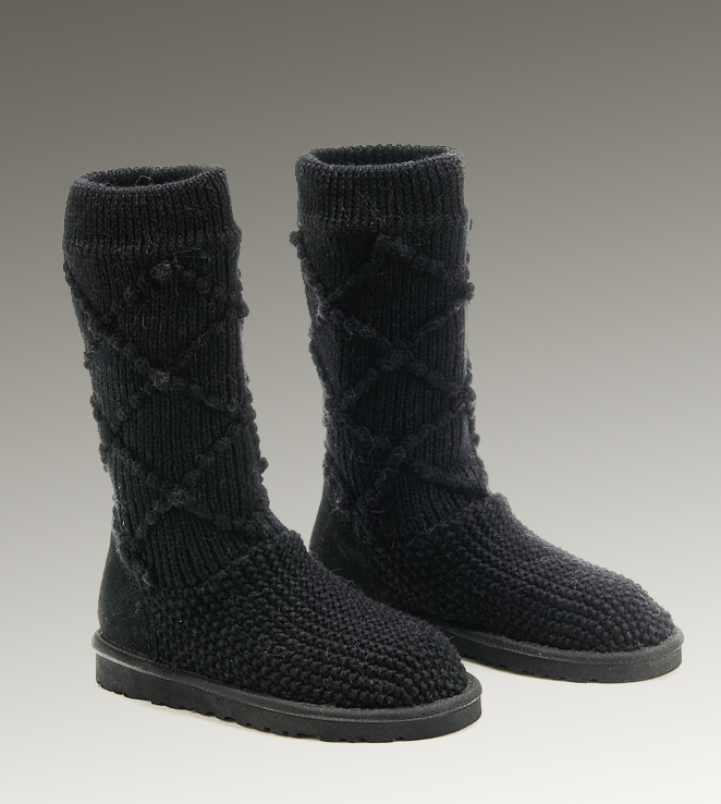 UGG Classic Cardy 5879 Black Boots