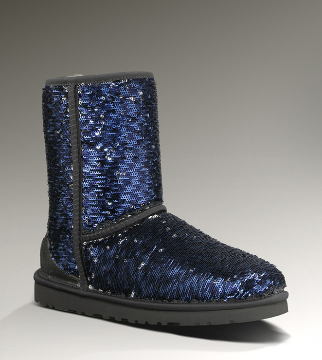 UGG Classic Short Sparkles 1002978 Midnight Multi Boots