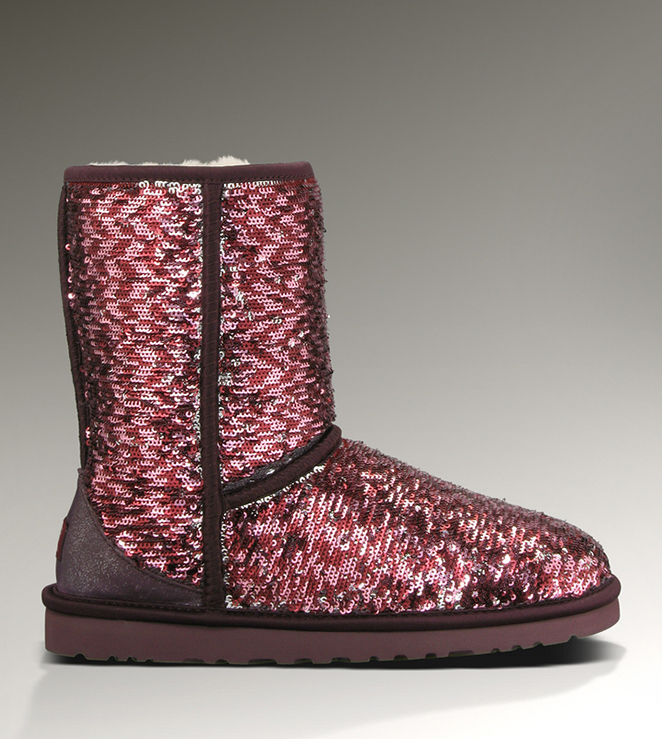 UGG Classic Short Sparkles 1002978 Sangria Multi Boots