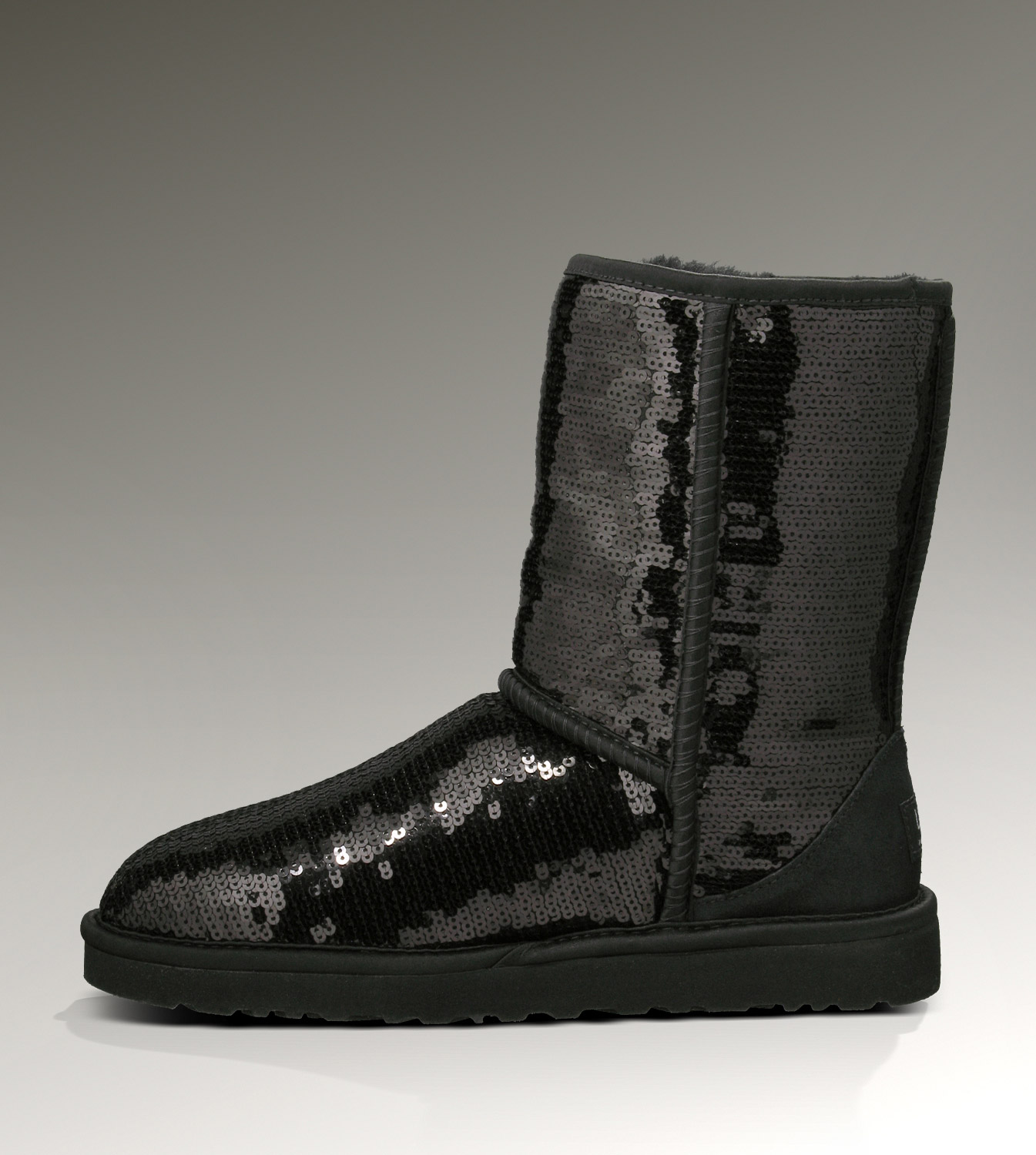 UGG Classic Short Sparkles 3161 Black Boots
