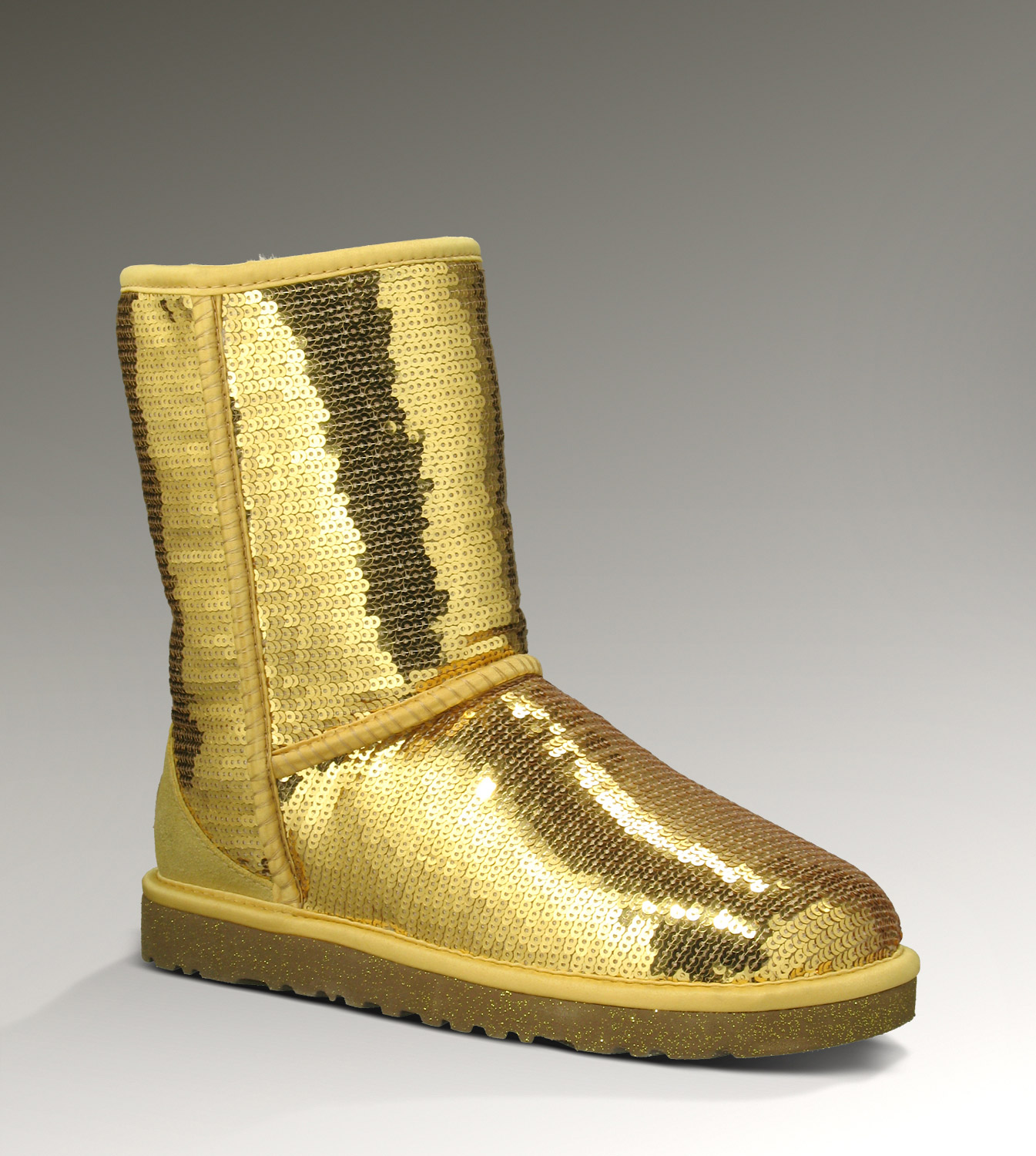 UGG Classic Short Sparkles 3161 Gold Boots