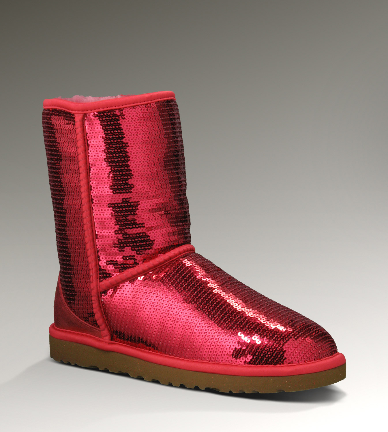 UGG Classic Short Sparkles 3161 Red Boots