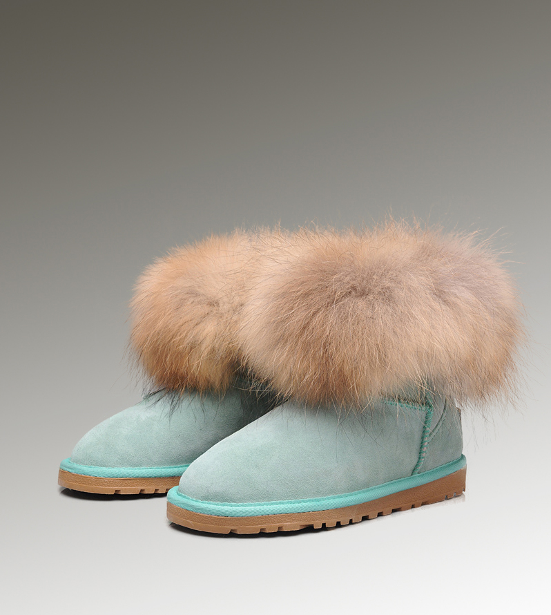 UGG Fox Fur Mini 5854 Emerald Boots