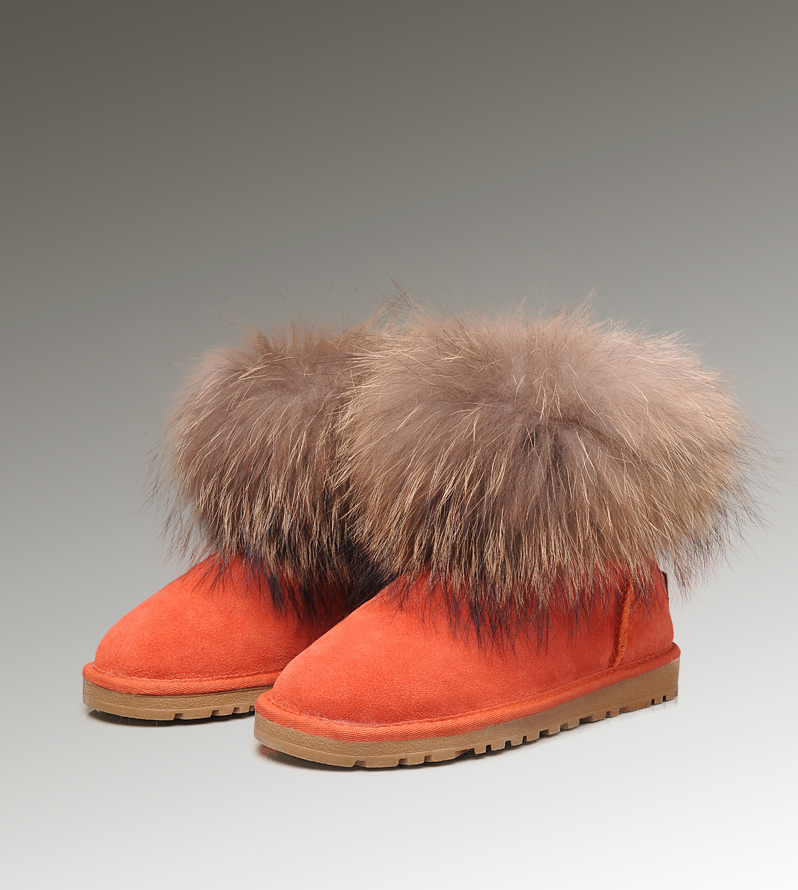UGG Fox Fur Mini 5854 Pink Boots