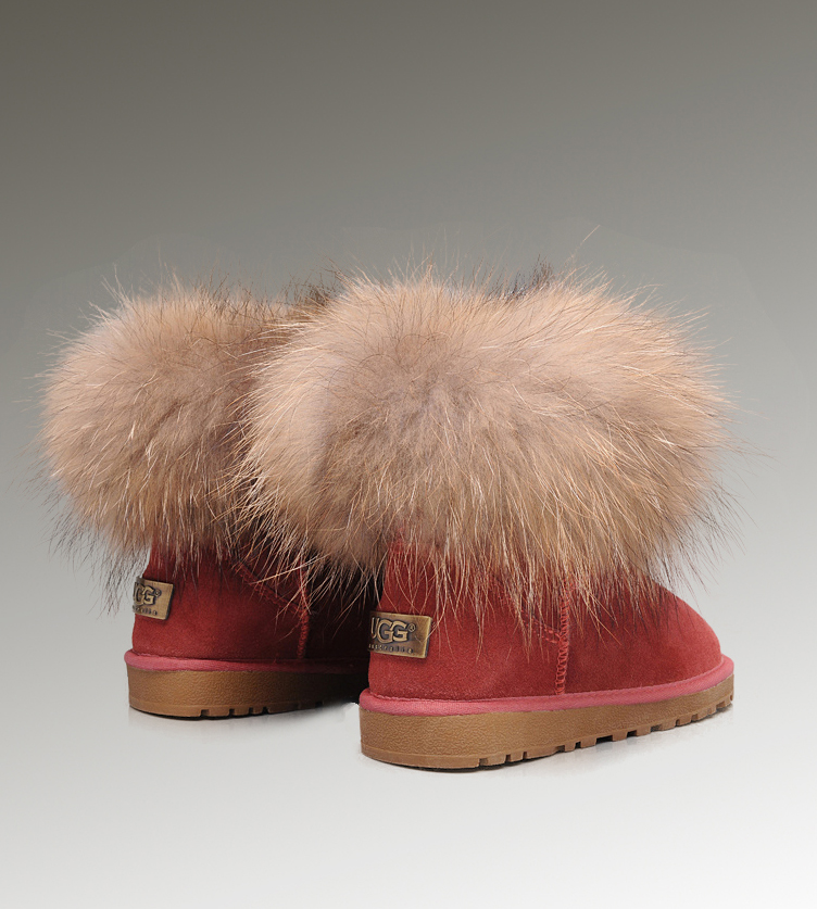 UGG Fox Fur Mini 5854 Purple Boots