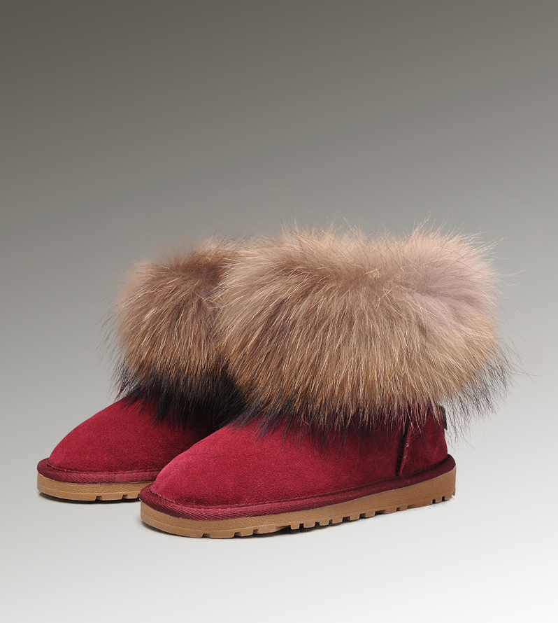 UGG Fox Fur Mini 5854 Rose Boots