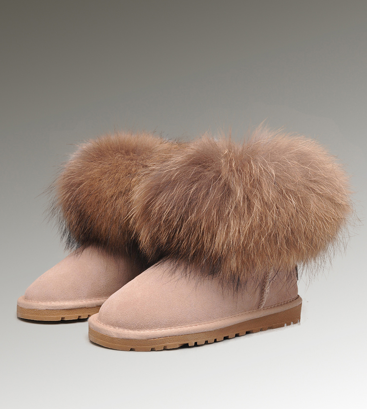 UGG Fox Fur Mini 5854 Sand Boots