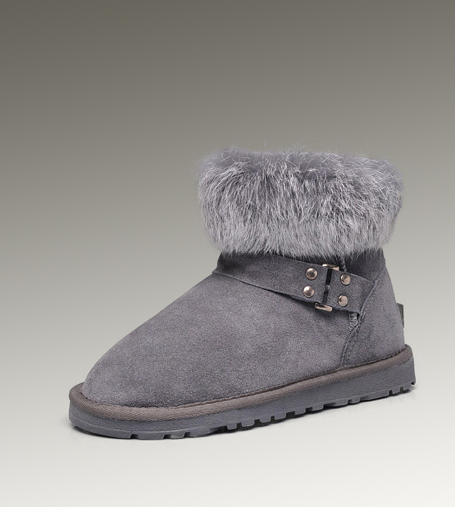 UGG Fox Fur Mini 5859 Grey Boots