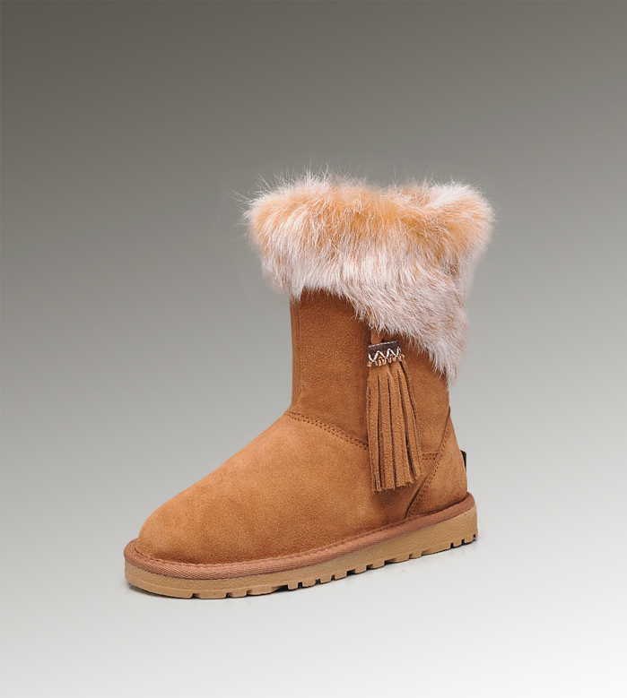 UGG Fox Fur Short 2894 Chestnut Boots