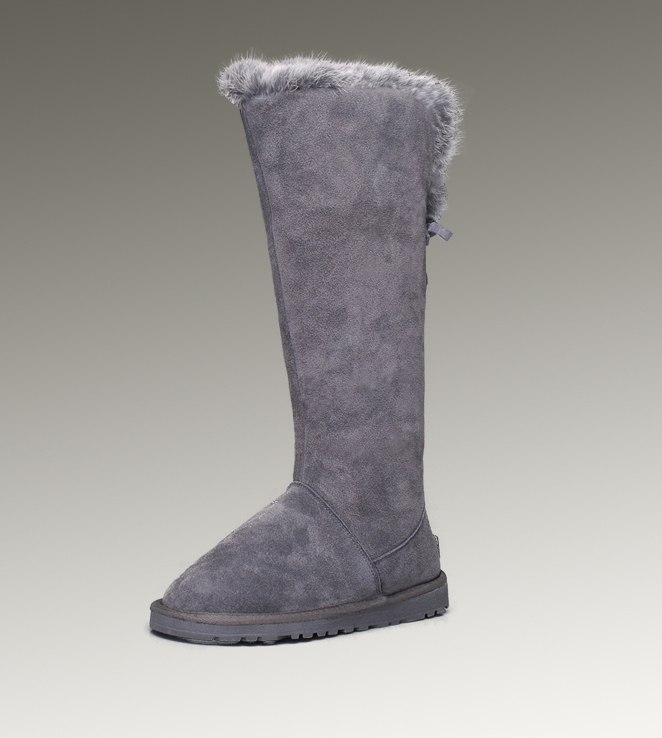 UGG Fox Fur Tall 5369 Grey Boots