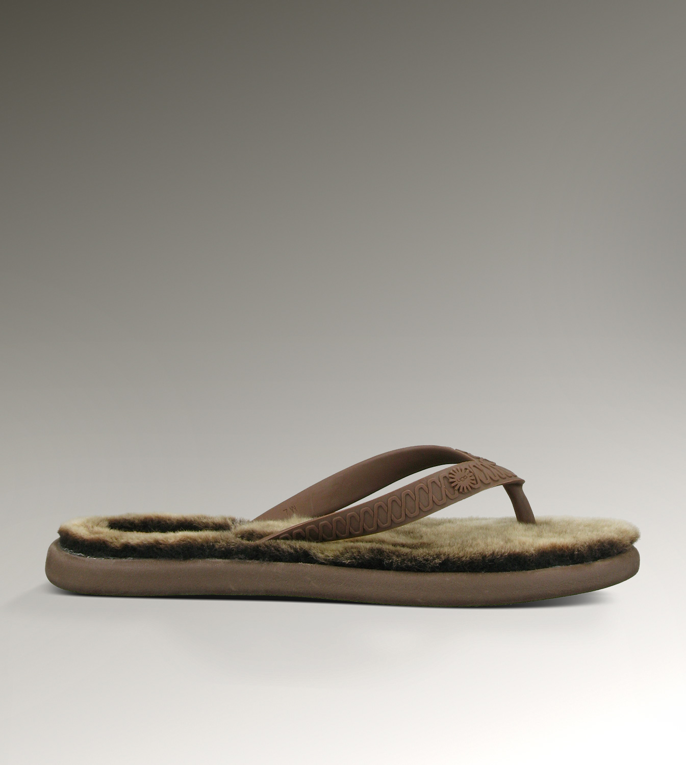 UGG Fluffie 1684 Chocolate Sandals