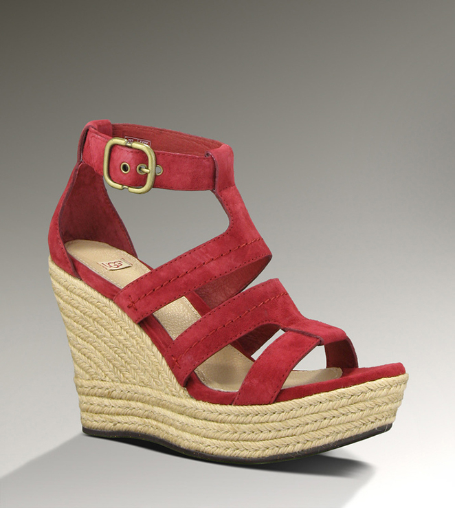 UGG Lauri 1000403 Red Sandals