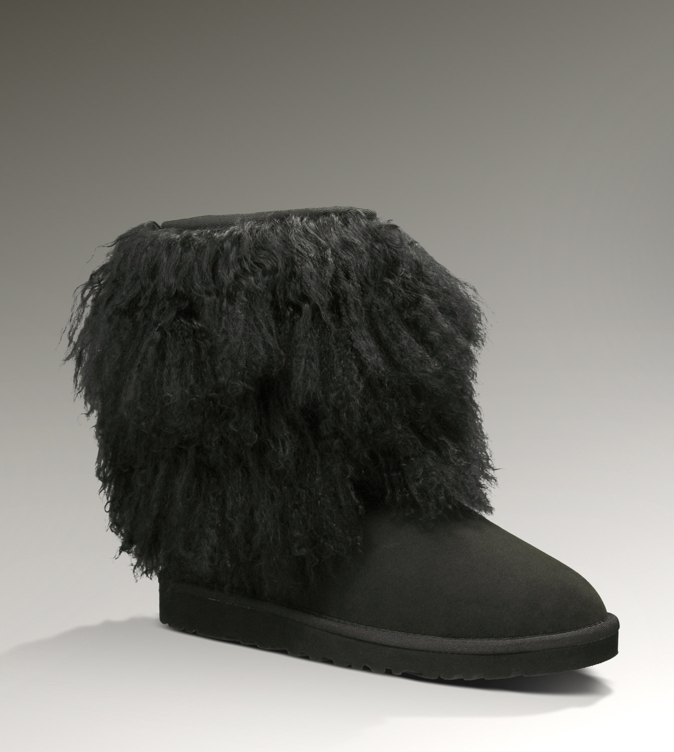 UGG Sheepskin Cuff Short 1875 Black Boots