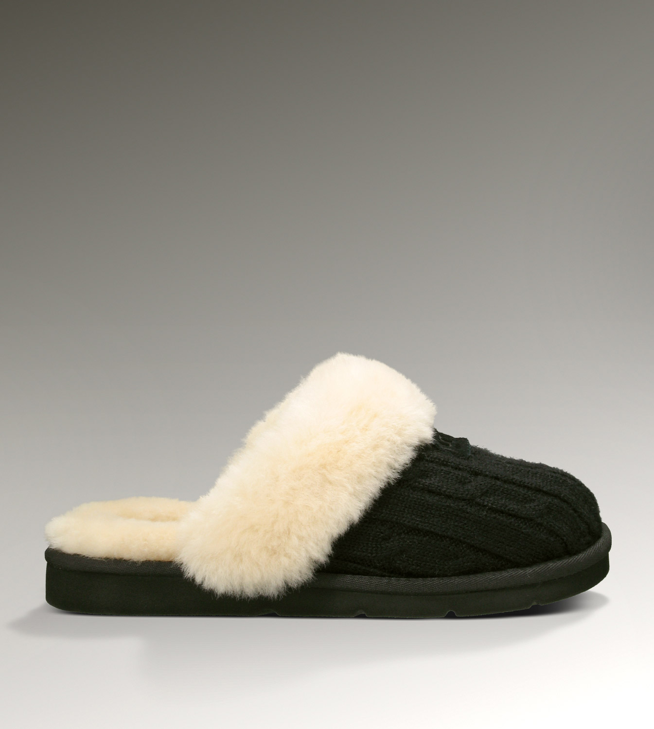 UGG Cozy Knit 1865 Black Slippers