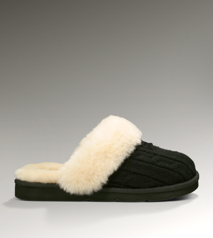 Ugg Cozy Knit 1865 Black Slippers Ugg151012 159 125
