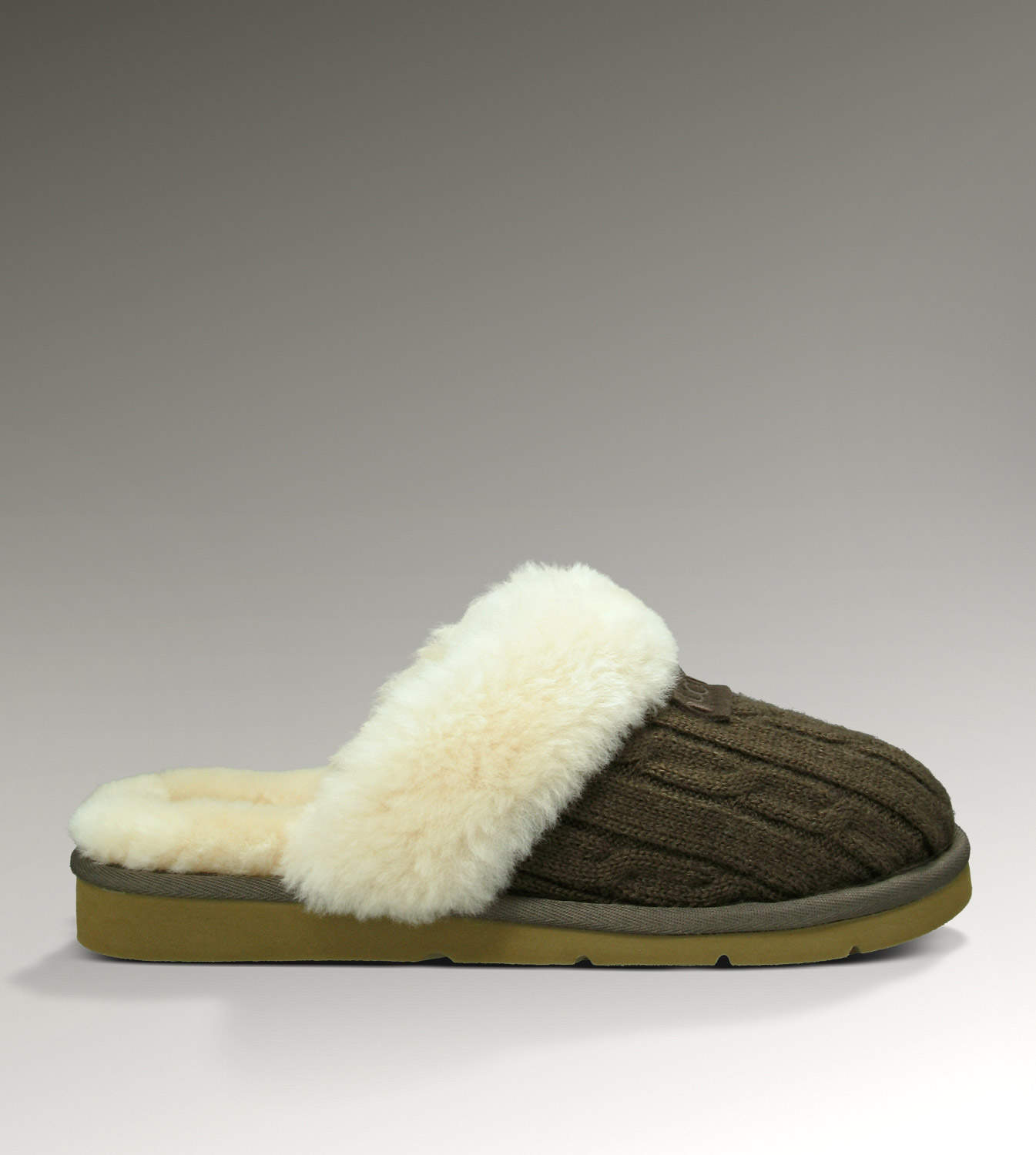 UGG Cozy Knit 1865 Chocolate Slippers