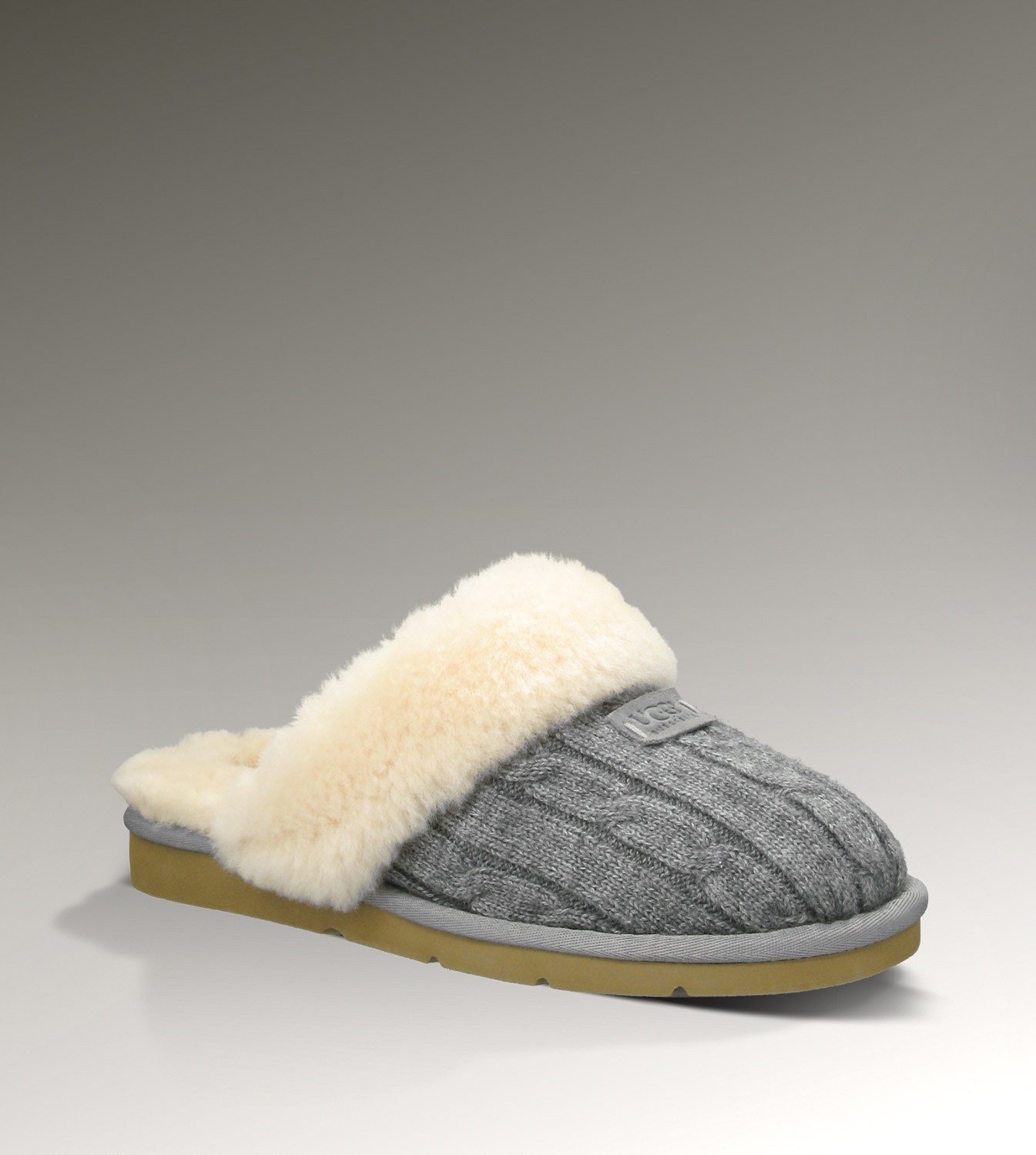 UGG Cozy Knit 1865 Grey Slippers