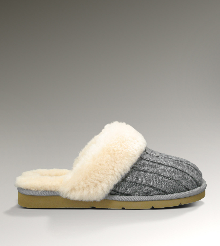 Ugg Cozy Knit 1865 Grey Slippers Ugg151012 165 125 00